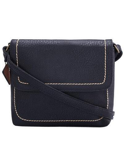 Black Vintage PU Shoulder Bag