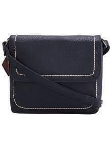 Black Vintage PU Shoulder Bag