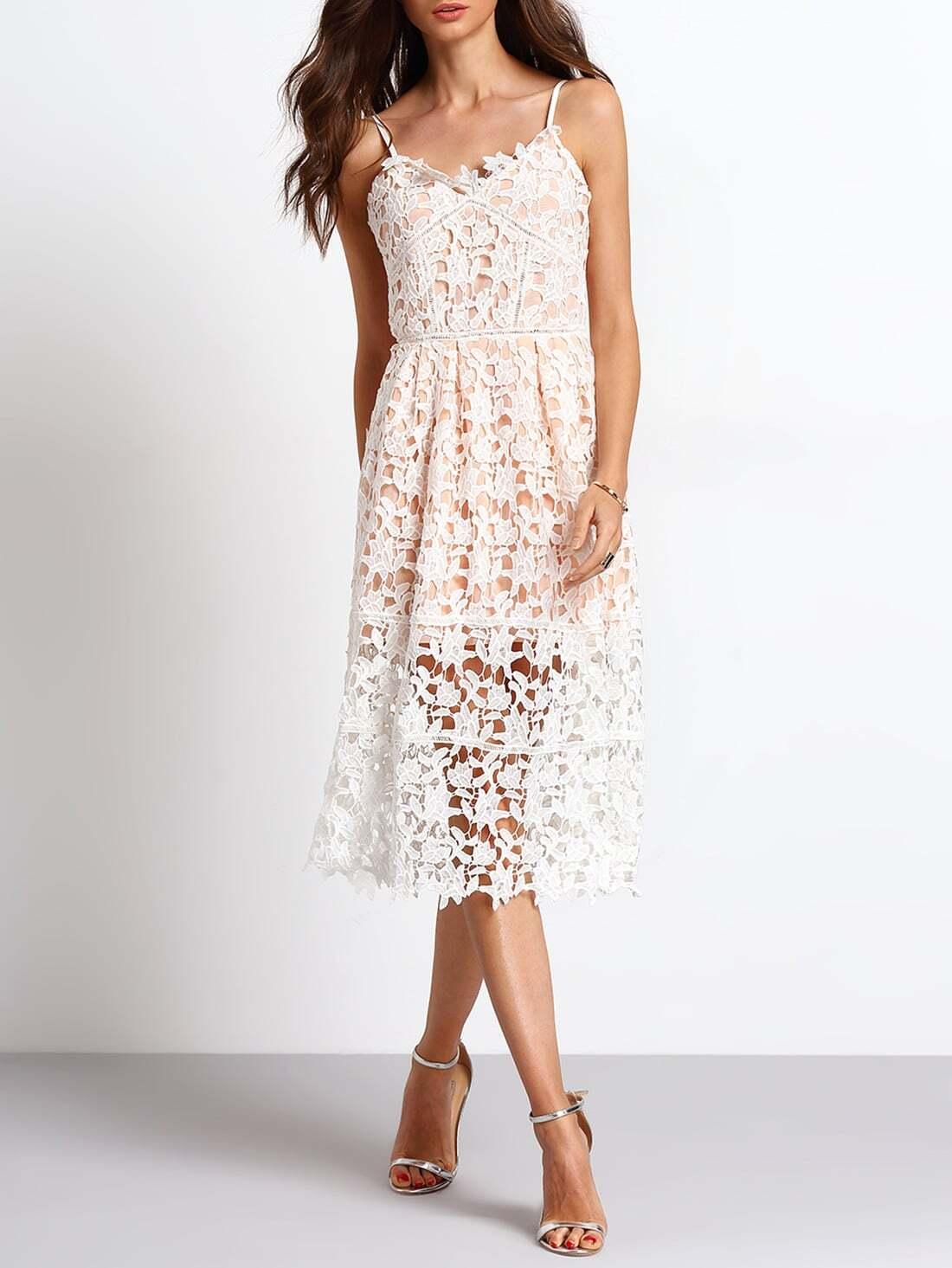 Slipdresses Haute Spaghetti Strap Back Zipper Hollow Braces Dress