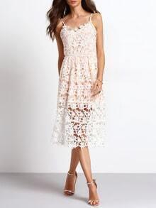 Slipdresses Spaghetti Strap Back Zipper Hollow Braces Dress