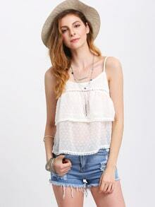 White Spaghetti Strap Backless Cami Top