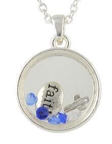 Beautiful Silver Plated Round Letter Pendant Necklace