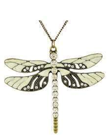 Besutiful Women Dragon Fly Pendant Long Necklace