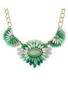 New Fashion Style Colord Rhinestone Women Statement Shourouk Necklace