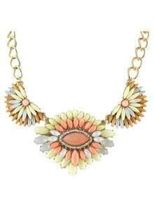 New Fashion Style Colord Rhinestone Women Statement Shourouk Necklace
