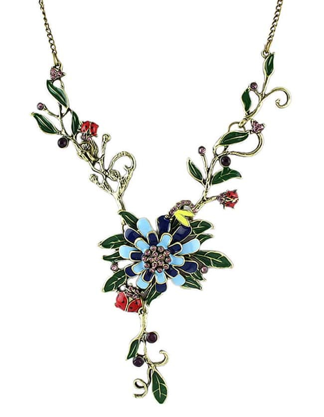 New Coming Colorful Enamel Flower Necklace