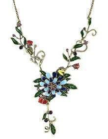Colorful Enamel Flower Necklace