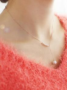 New Arrivals Cheap Gold Plated Imitation Pearl Necklace