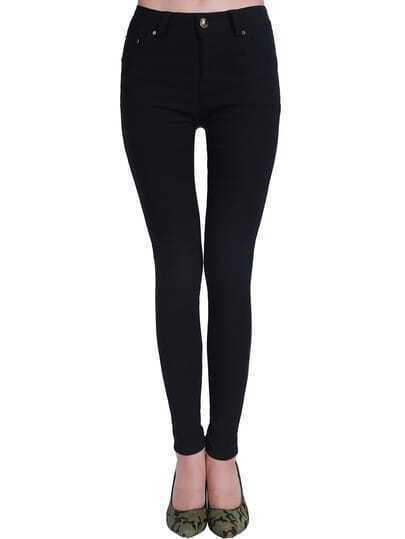 Black Slim Pockets Denim Pant