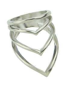 Latest Punk Style Silver Women Fashion Ring