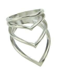 Latest Punk Style Silver Women Fashion Ring