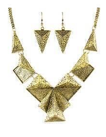 Trends Vintage Style Gold Geometric Shaped Fashion Jewelry Set