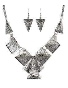 Trends Vintage Style Silver Geometric Shaped Fashion Jewelry Set