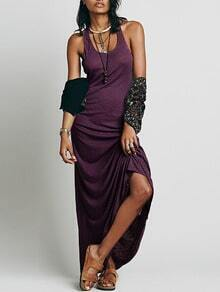 Purple Sleeveless Maxi Dress
