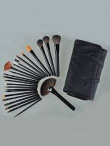 24pcs Professional Cosmetic Makeup Brush Set Kit with Bag-Black