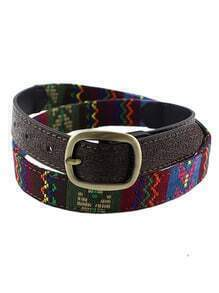Fashion Ethnic Style Colorful Imitation Leather Women Waist Belt