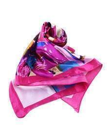New Style Hotpink Thin Women Fashionable Scarf