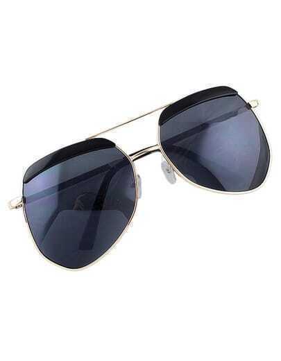 Lady Oversized Gold Fashionable Sunglasses