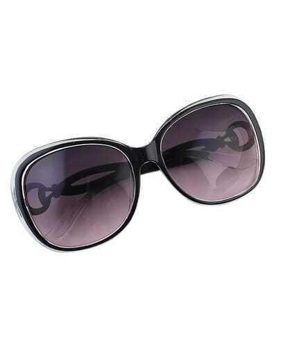 Oversized Fashionable Black Sunglasses