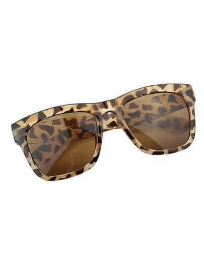 Square Shape Leopard Sunglasses