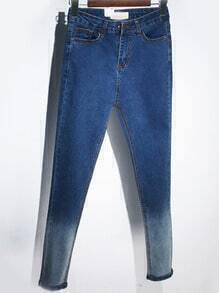 Blue Ombre Denim Slim Pant