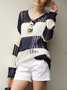 http://es.shein.com/Navy-White-V-Neck-Hollow-Knit-Sweater-p-225011-cat-1734.html?utm_source=mivida-enblog.blogspot.com.es&utm_medium=blogger&url_from=mivida-enblog