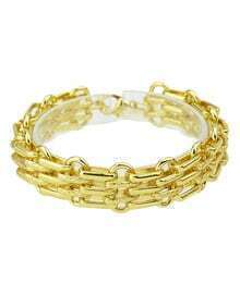 Punk Style Gold Plated Women Wide Chain Bracelet