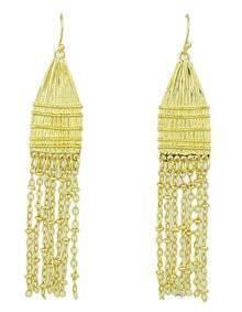 Punk Style Gold Plated Long Tassel Earrings