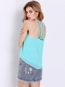 Green Spaghetti Strap Cami Top