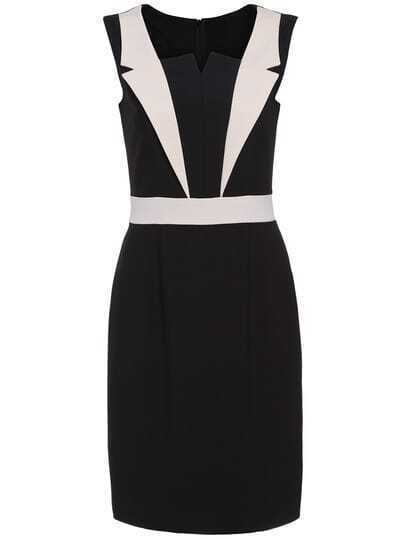 Black Apricot Sleeveless Bodycon Dress