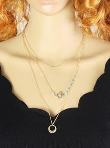 Multilayer Women Long Chain Necklace