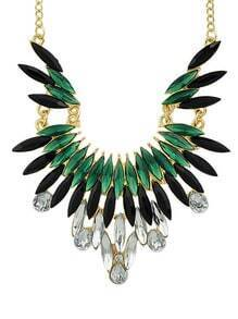 New Fashion Green Gemstone Beautiful Women Shourouk Necklace