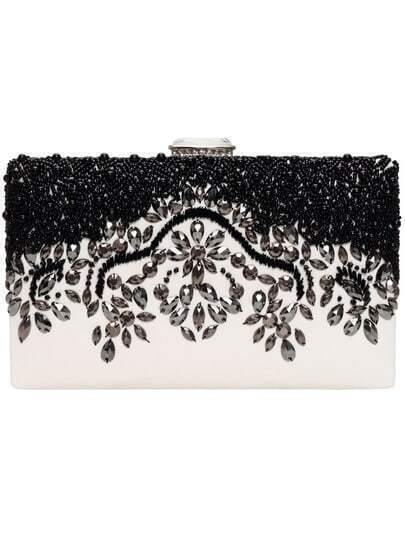 White Bead PU Shoulder Bag