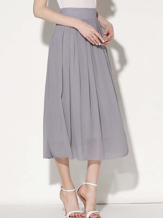 Купить Elastic Waist Chiffon Pleated Skirt