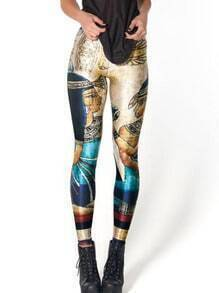 Multicolor Pharaoh Print Leggings