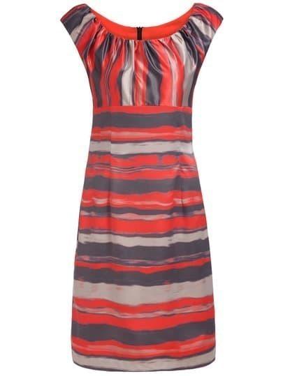 Multicolor Round Neck Sleeveless Print Dress