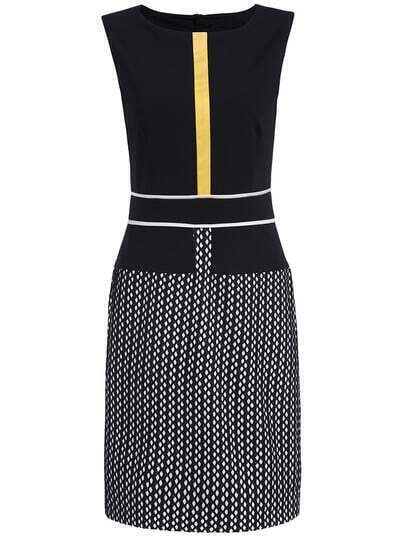 Black Round Neck Sleeveless Bodycon Dress