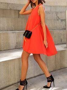 Orange Trapeze Dress