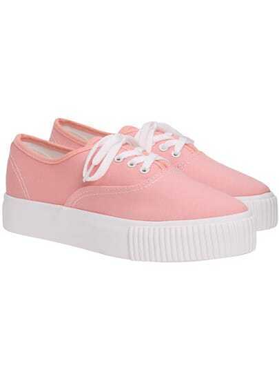 Pink Thick-soled Casual Flats