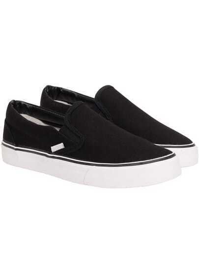 Black Thick-soled Casual Flats