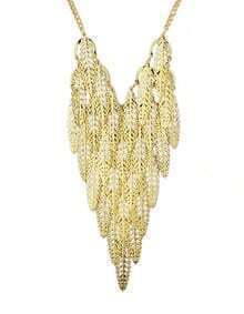 New Fashion Jewelry Gold Plated Long Chunky Leaf Necklace