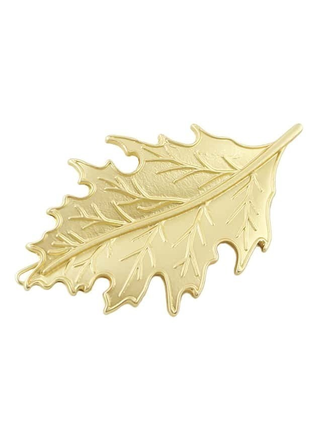Latest Design Gold Plated Small Leaf Shape Women Hair Pin
