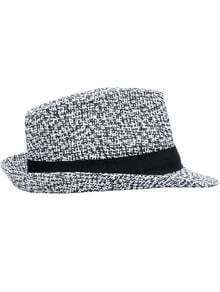Black White Weave Casual Hat