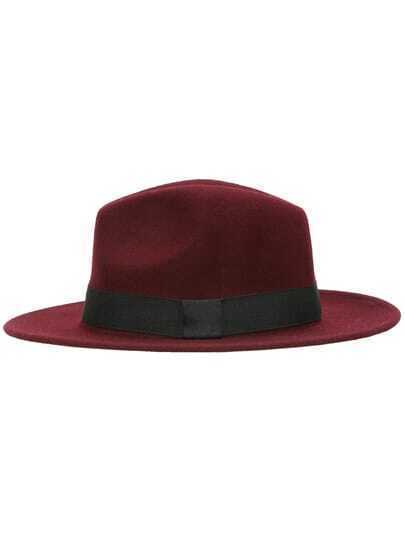 Wine Red Casual Oversize Hat