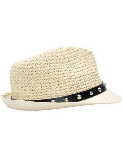 Apricot Fashion Bead Hat