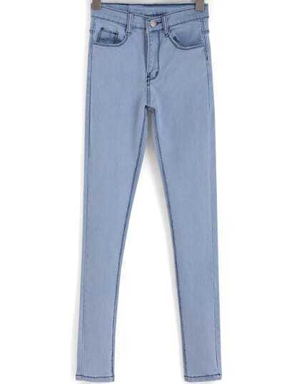 Light Blue Slim Casual Denim Pant