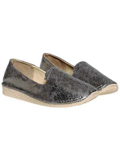 Grey Casual Thick-soled Flats