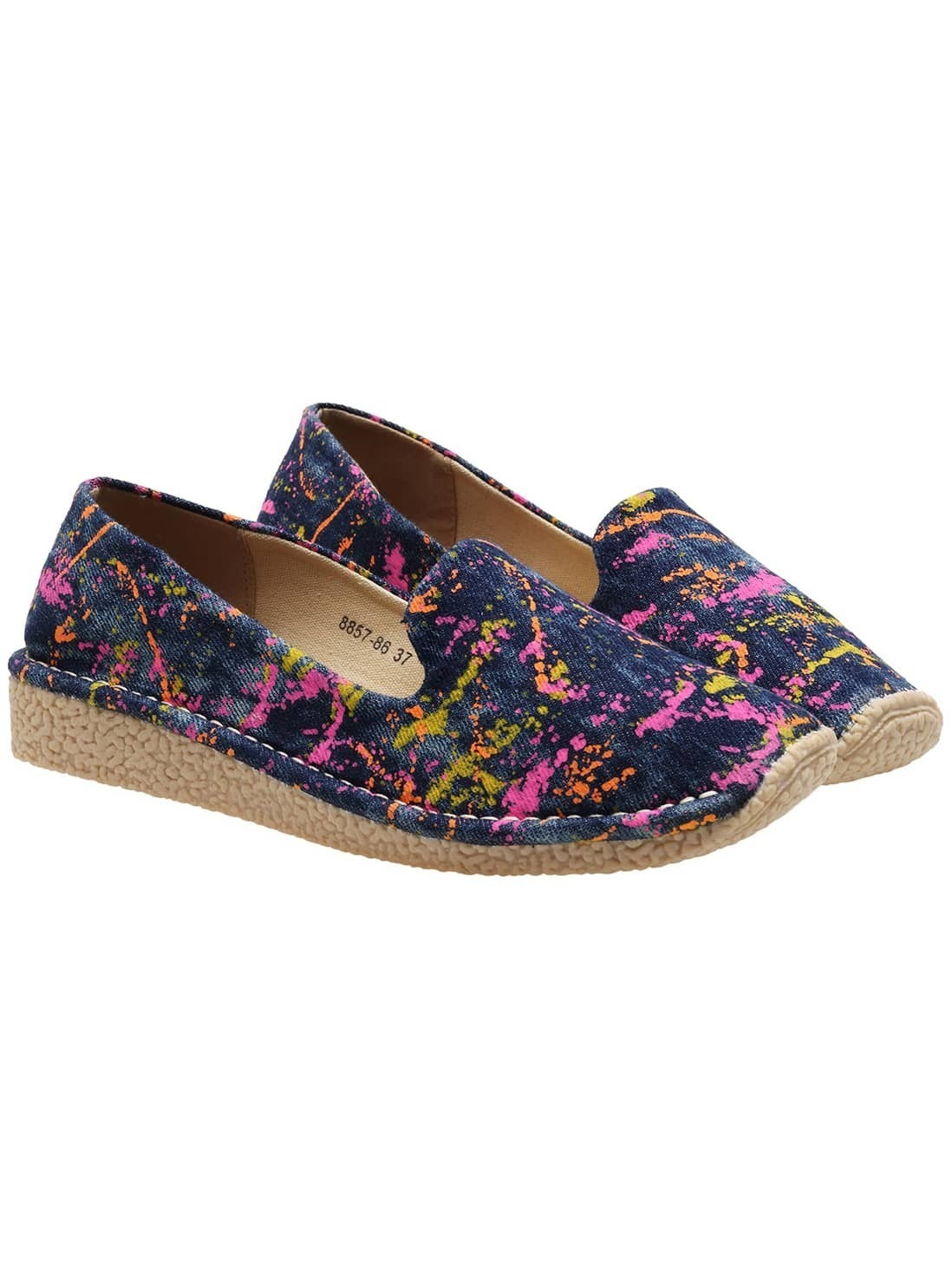 Navy Casual Thick-soled Flats