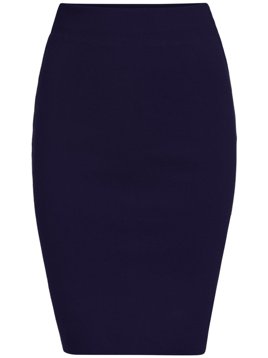 blue slim split bodycon skirt shein sheinside