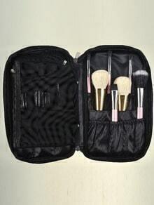 Black Zipper Cosmetic Bag